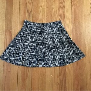 H&M mini floral skirt with buttons